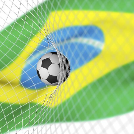 circumstance: Brazilian flag and soccer