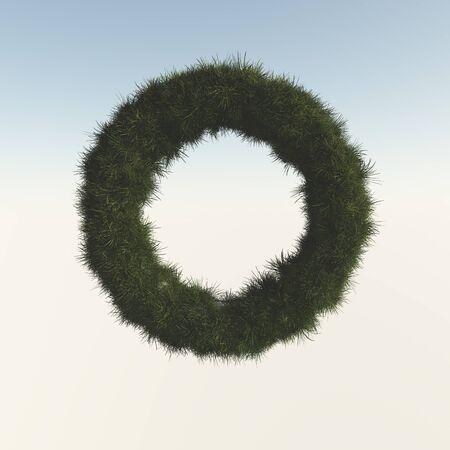 grasslands: Lawn from torus Stock Photo