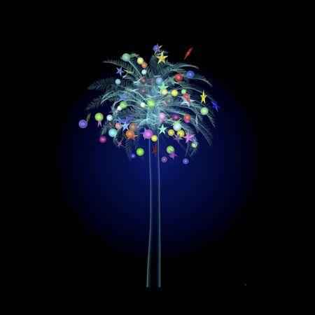 luminescence: Christmas tree tropical Stock Photo