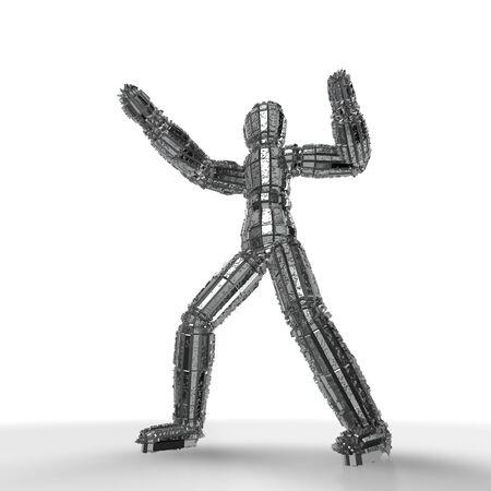 humanoid: Humanoid mecha Stock Photo