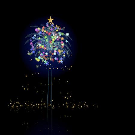 bioluminescent: Christmas tree tropical Stock Photo