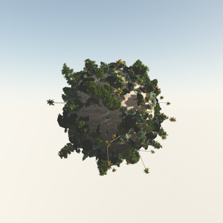 three dimension shape: Trees from the sphere