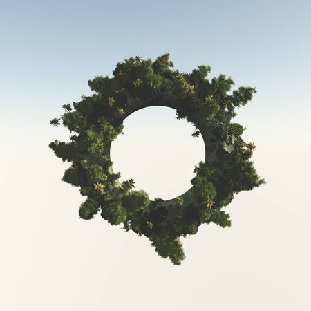 donut shape: Trees from a circular