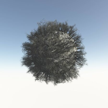 dehydrated: Dead tree from spheres Stock Photo