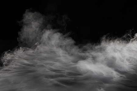 smoke: Dry ice smoke Stock Photo