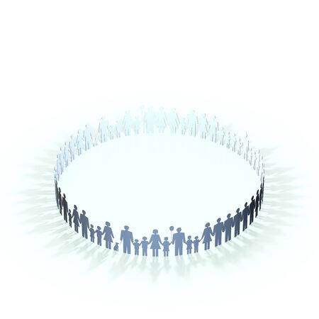 three dimension shape: Person in a circle Stock Photo