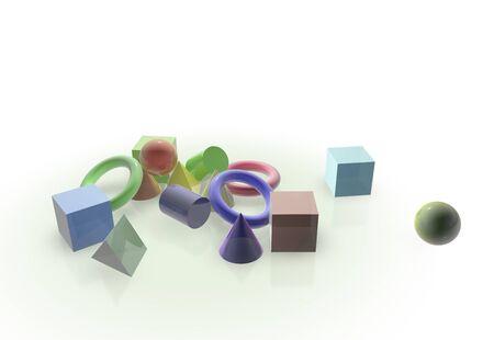 3d object: 3D object Stock Photo
