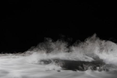 cold storage: Dry ice smoke Stock Photo