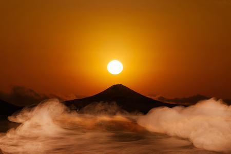 the world cultural heritage: Mt. Fuji