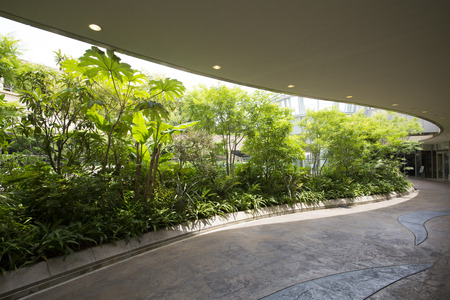 urbanscape: Green roof to prevent global warming Stock Photo