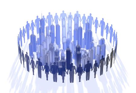 join hands: People to join hands with Bill Stock Photo