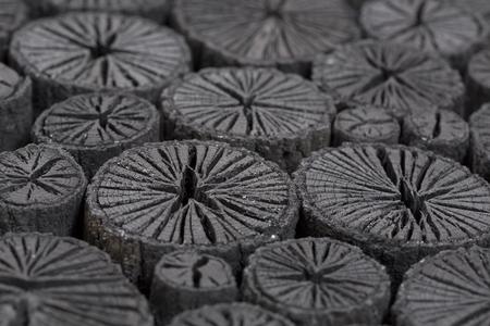 クヌギ菊炭の愛媛県 写真素材