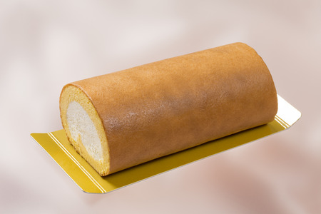 indulgent: Roll cake Stock Photo