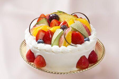 フルーツ ケーキ 写真素材
