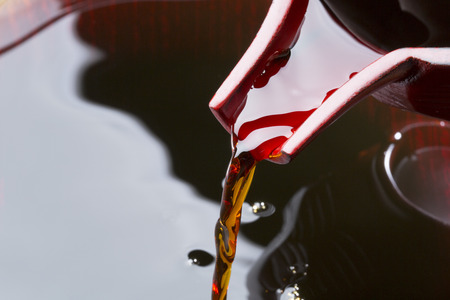 soy sauce: Soy sauce making Stock Photo