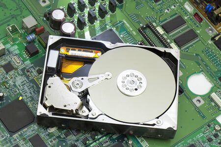 information medium: Hard disk Stock Photo