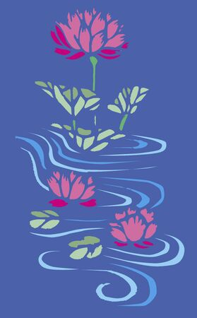 navy blue: Cutout lotus navy blue back