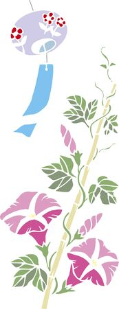 Kirie 바람 종소리와 나팔꽃