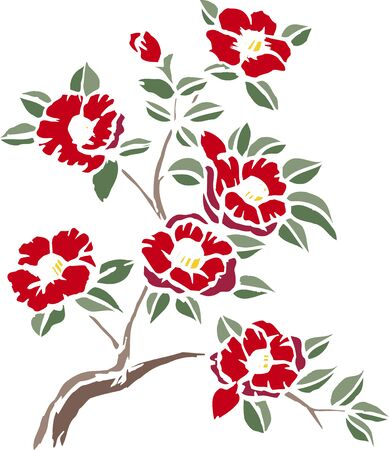 camellia: Cutout camellia Stock Photo