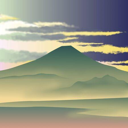 haze: Fuji of spring haze