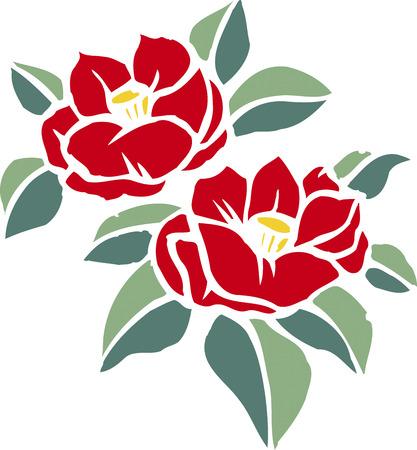 Knipsel camellia Stockfoto
