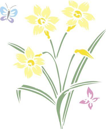 vain: Cutout daffodil Stock Photo
