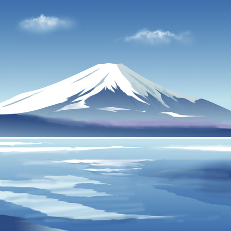 Mount Fuji in winter Stock Photo