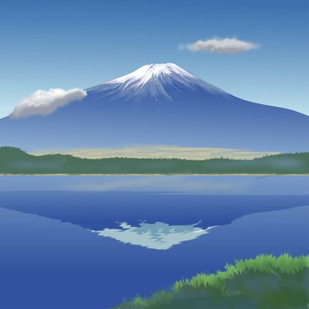 world heritage: Upside-down Fuji