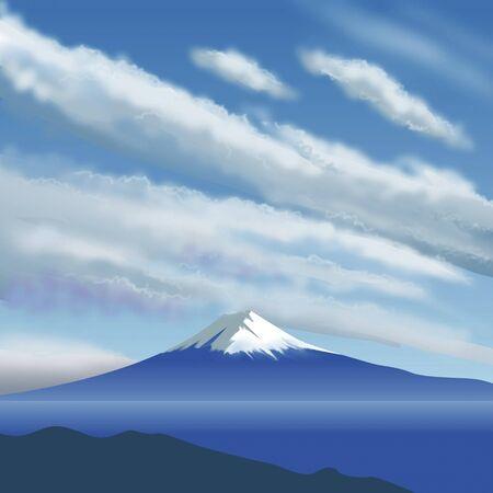 mount fuji: Fall of Mount Fuji
