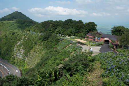 i hope: I hope the summit station from Yahiko summit outlook cafeteria Stock Photo