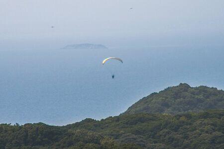 paraglider: Paraglider flying Futtsumisaki