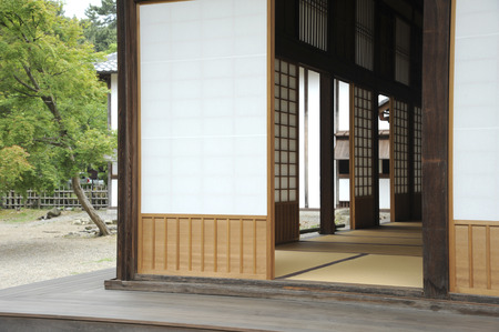 wicket: Kido and Japanese architecture of the veranda Stock Photo