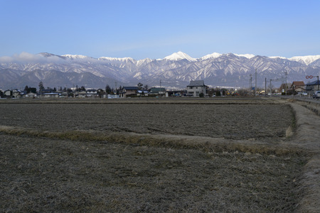 chubu: Northern Alps view from Azumino