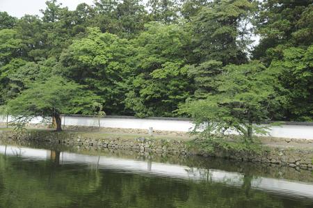 groaning: Old Ikeda mansion Nagaya-mon Gate Stock Photo