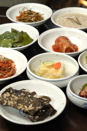 extrusion: Protrusion of the Korea set meal Stock Photo