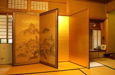 intangible: Handmade gold folding screen