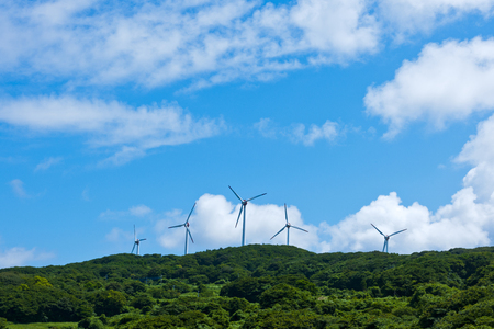 Clouds and wind power generator