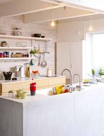対面キッチン 写真素材