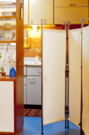 tabique: Partition of kitchen