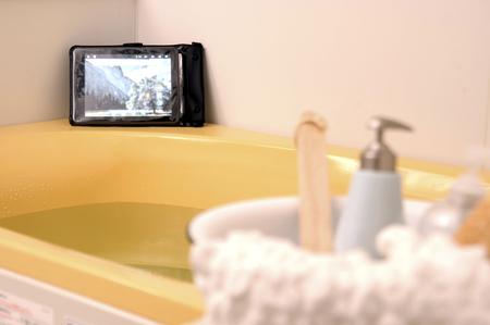 防水テレビ、お風呂 写真素材 - 46267312