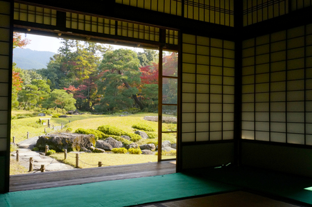 transom: From Japanese-style garden.
