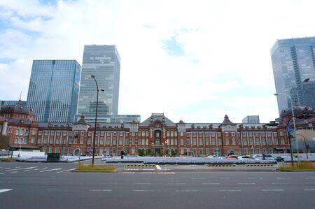 brick building: Tokyo Station red brick station building center opening