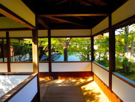 ninnaji: Ninna-ji Temple old Imperial Palace corridor Editorial
