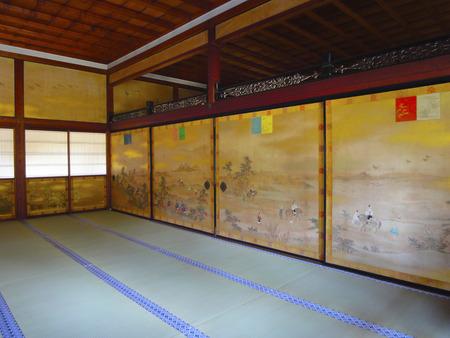 ninnaji: Ninna-ji Temple Imperial Palace fusuma picture