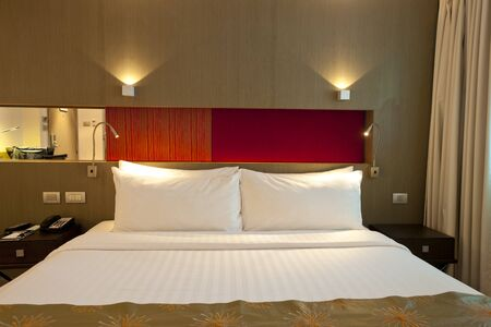 king size bed: King-size bed Stock Photo