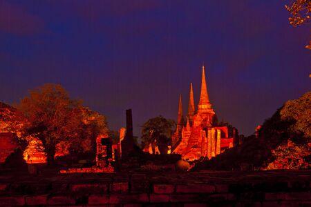 light up: Wat Phra Sri Sanphet of light up