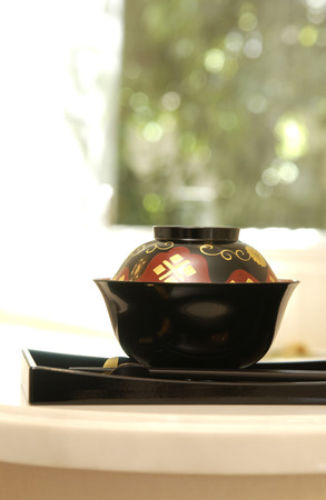 lacquerware: Bowl of image Stock Photo