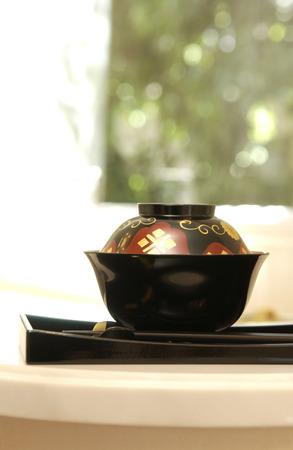 lacquerware: Bowl of image Stock Photo