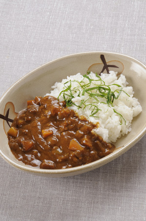 ground beef: Ground beef curry Stock Photo