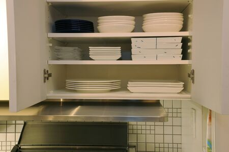 kitchen: Kitchen rack Stock Photo